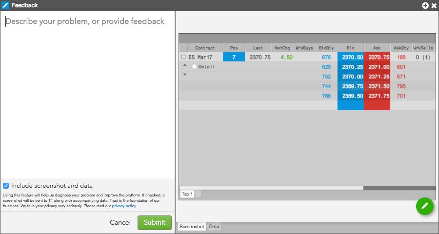Sending feedback from a widget widgets help and tutorials the feedback widget opens publicscrutiny Images